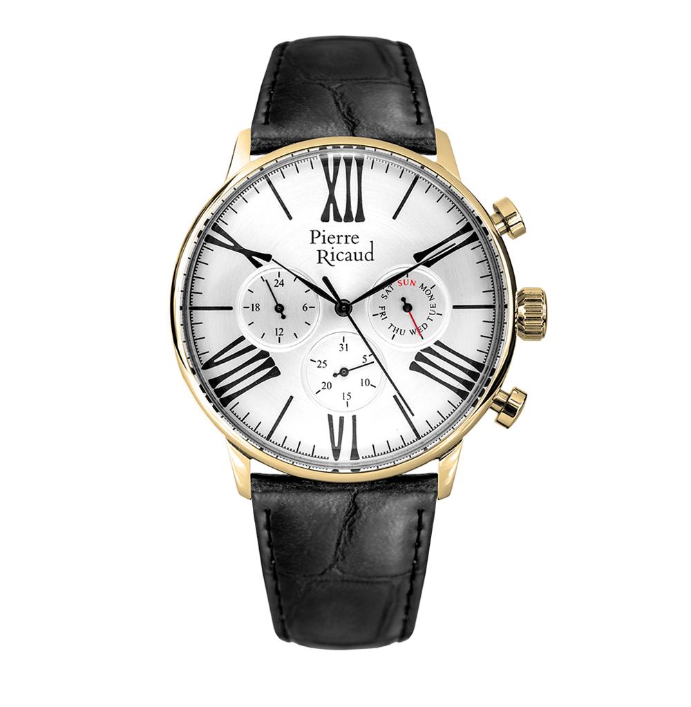 Мужские часы P97212.1263QF на кожаном ремешке с минеральным стеклом