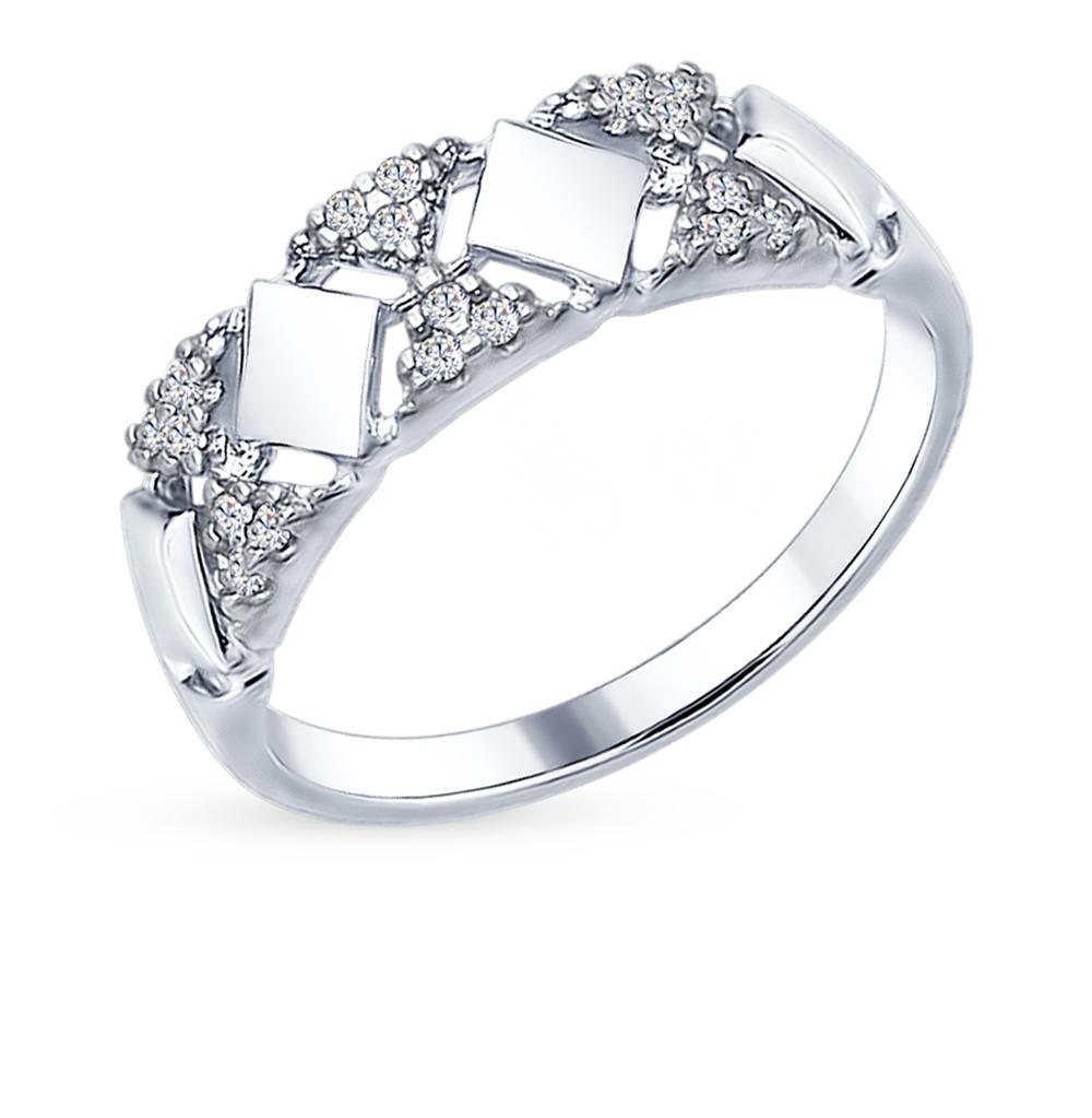 Фото «Серебряное кольцо с фианитами SOKOLOV 94012274»