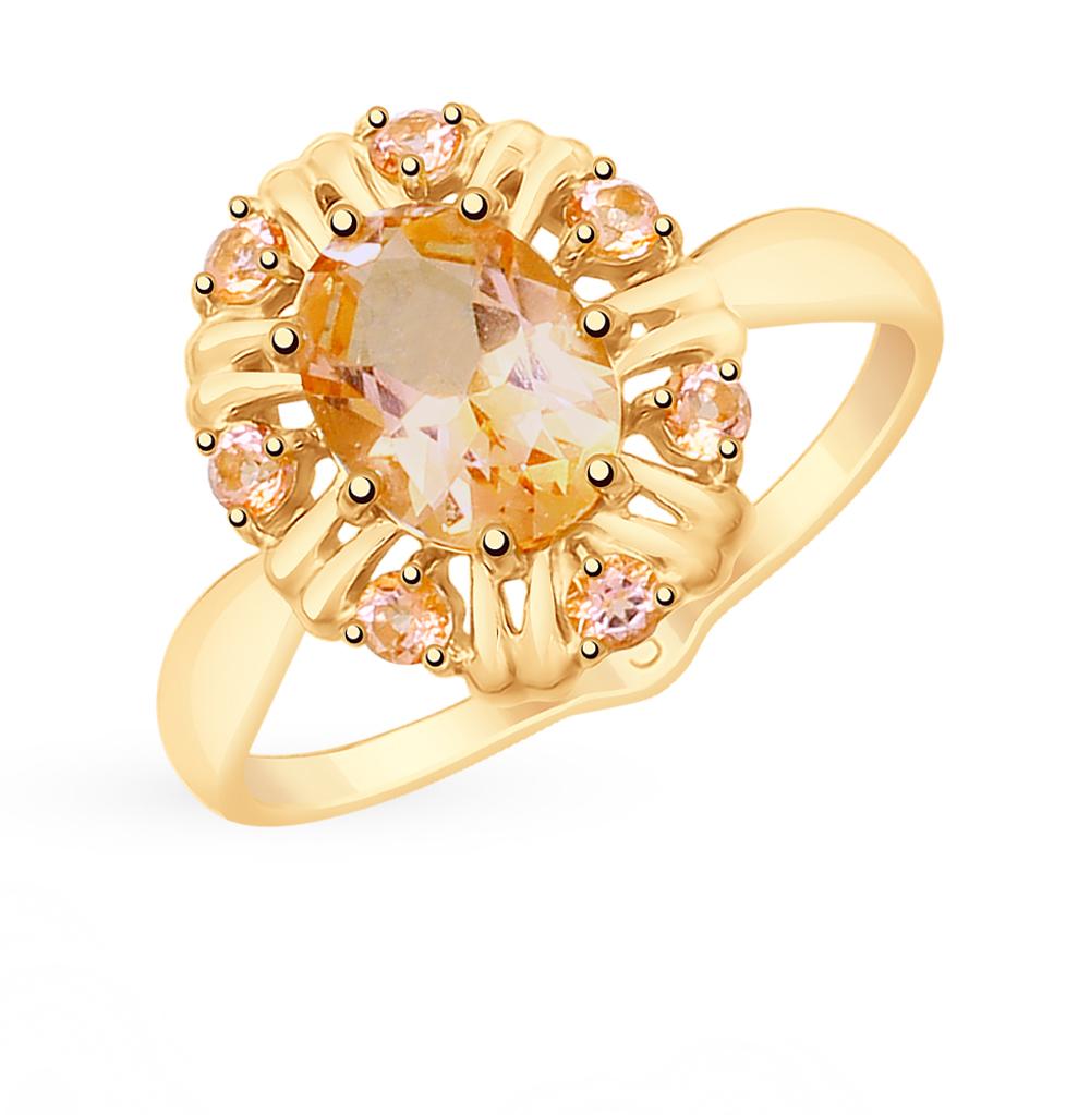 золотое кольцо с топазами SOKOLOV 715360*
