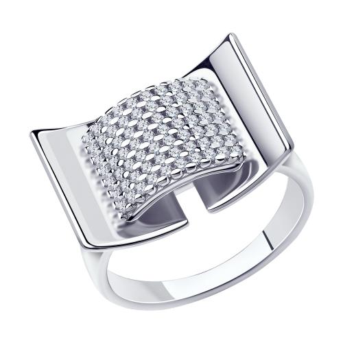 Серебряное кольцо с фианитами SOKOLOV 94013164 в Екатеринбурге