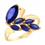 золотое кольцо с корундом SOKOLOV 715186