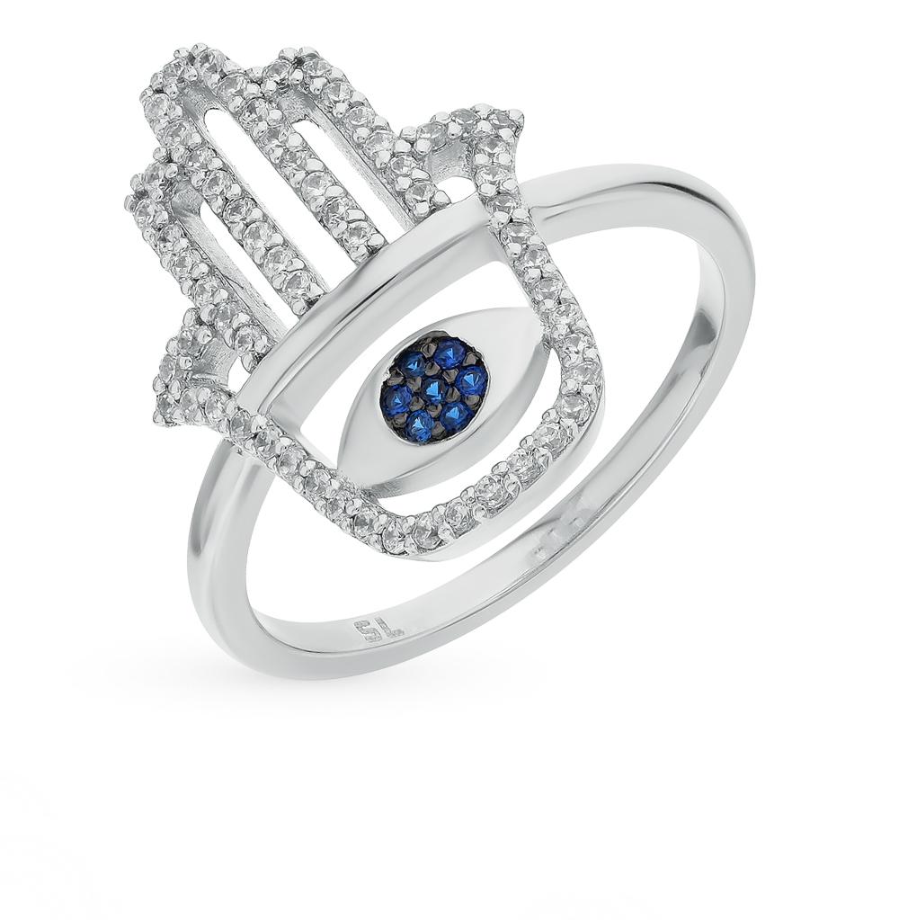 Фото «Серебряное кольцо со шпинелью и фианитами»