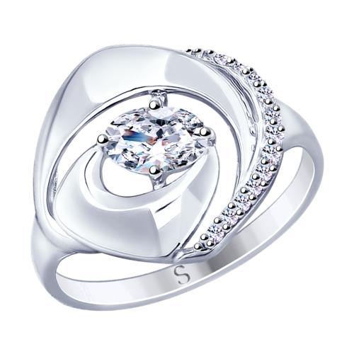 Фото «Серебряное кольцо с фианитами SOKOLOV 94012862»