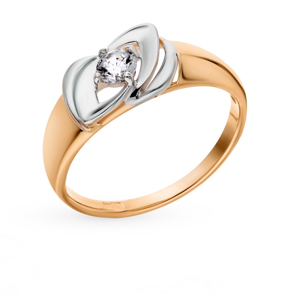 золотое кольцо с фианитами SOKOLOV 017518*