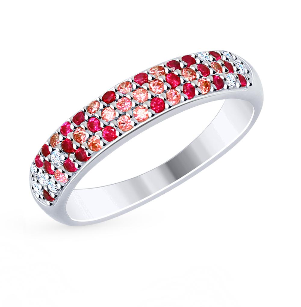 серебряное кольцо с фианитами SOKOLOV 94012474