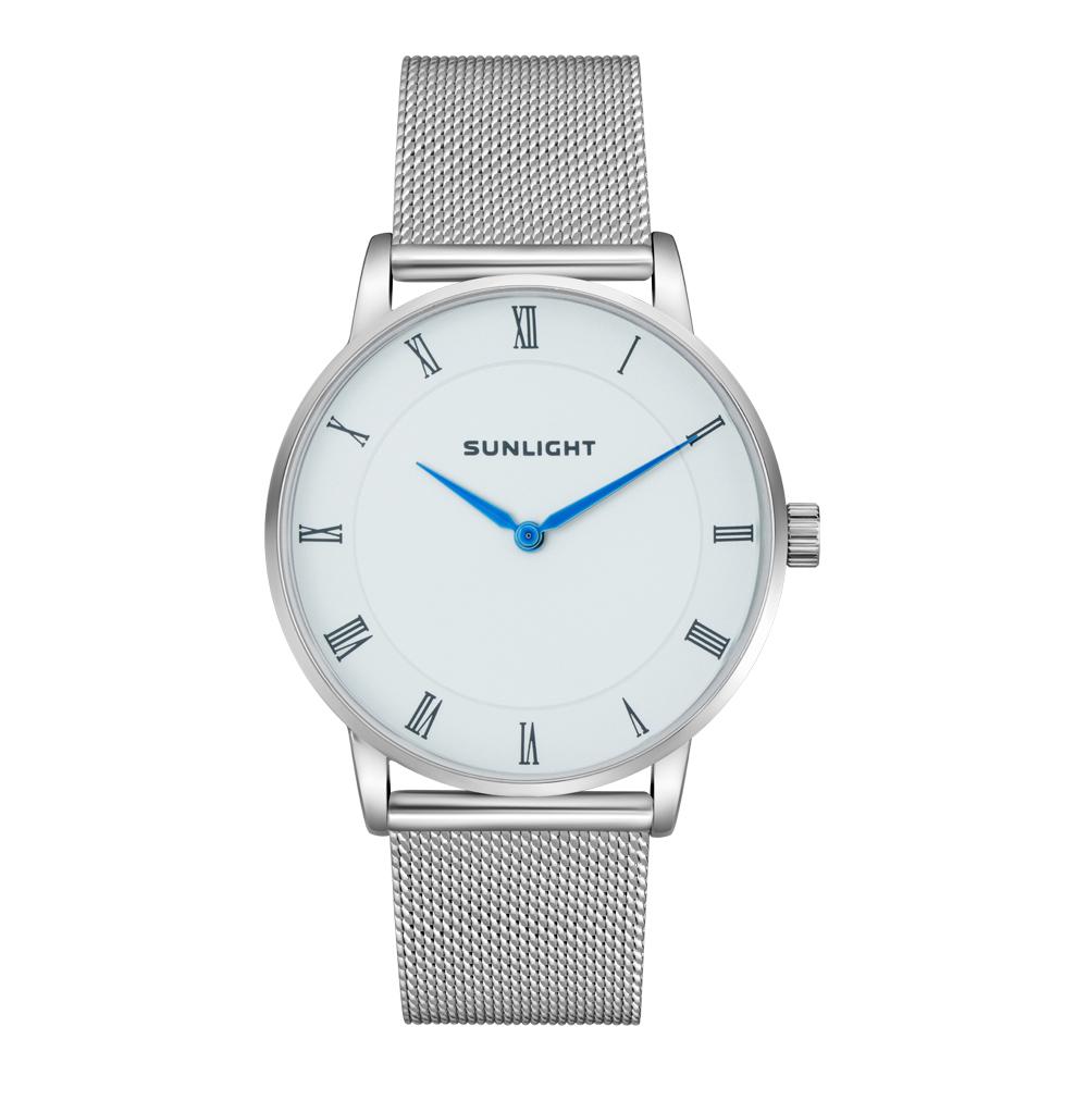 Тонкие универсальные  часы на миланском браслете
