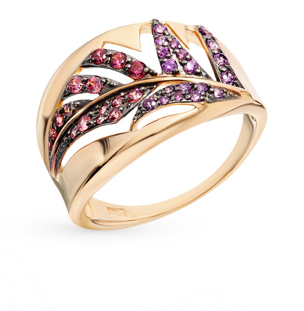Фото «Золотое кольцо с фианитами SOKOLOV 017409*»