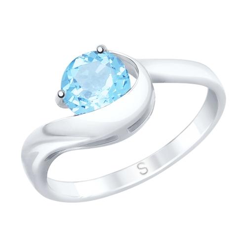 Фото «Серебряное кольцо с топазами SOKOLOV 92011755»