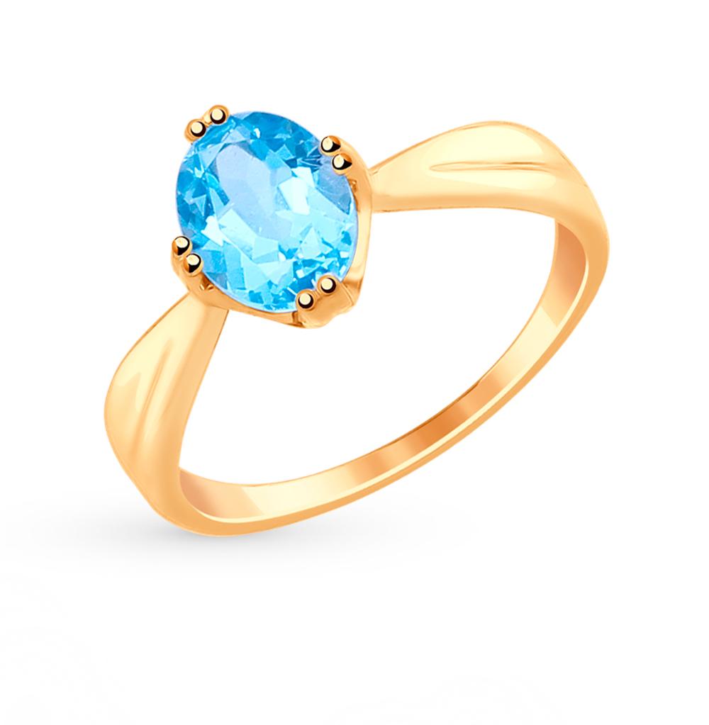 Фото «Золотое кольцо с топазом SOKOLOV 715008*»
