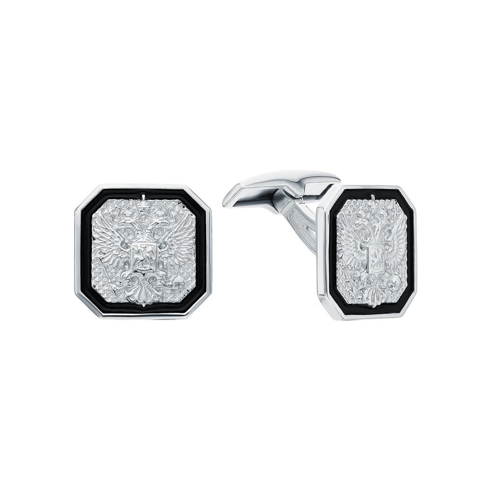 Фото «Серебряные запонки с эмалью»