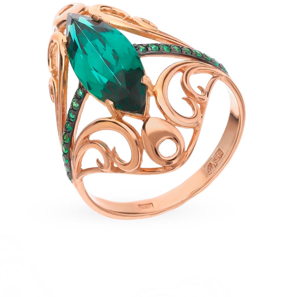 Золотое кольцо с турмалинами и фианитами в Санкт-Петербурге