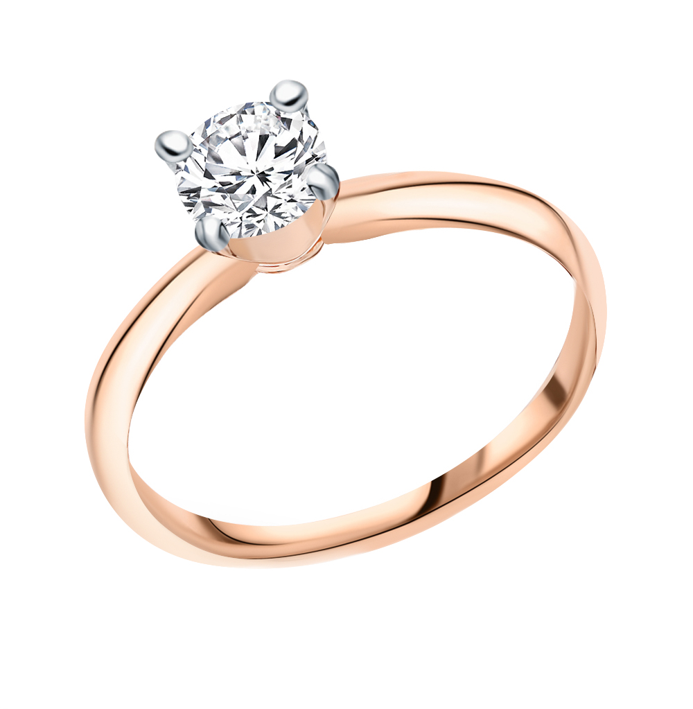 Золотое кольцо с фианитом в Екатеринбурге