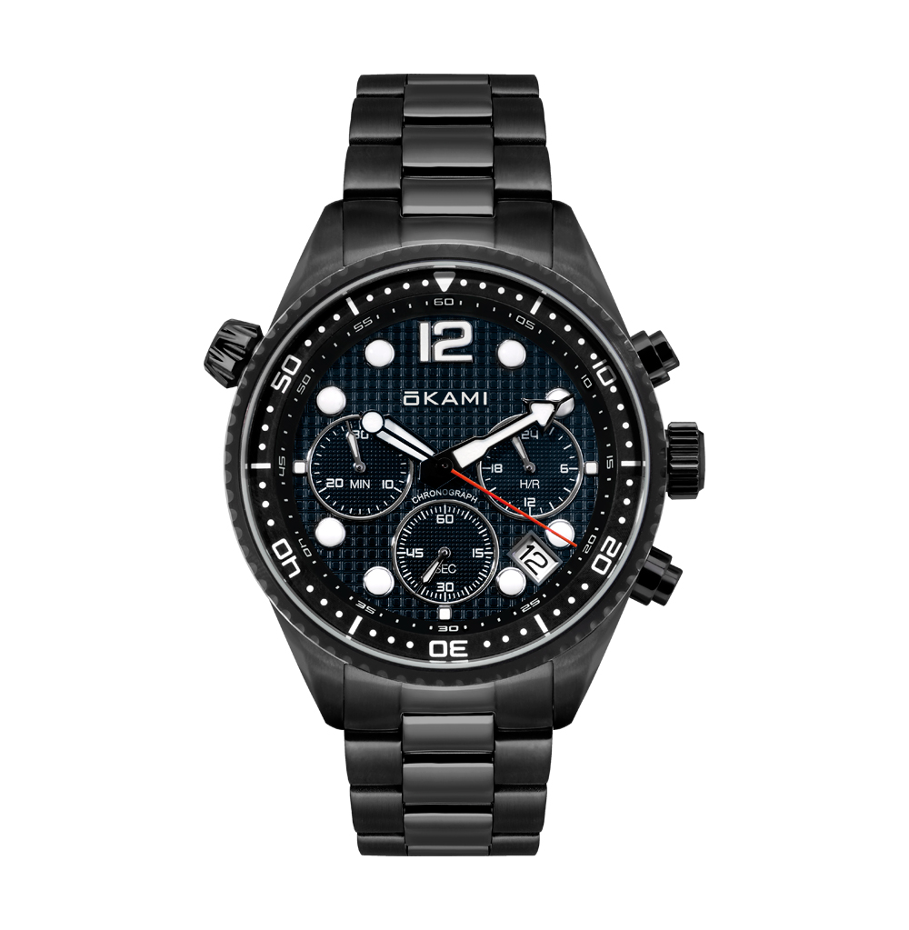 Мужские часы с хронографом на стальном браслете