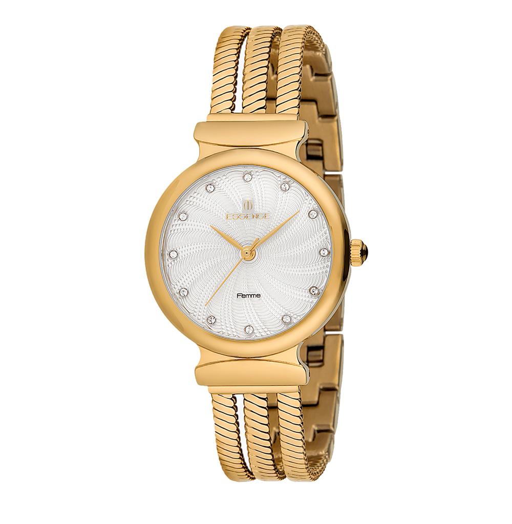 Женские часы D1037.130 на стальном браслете с IP покрытием с минеральным стеклом