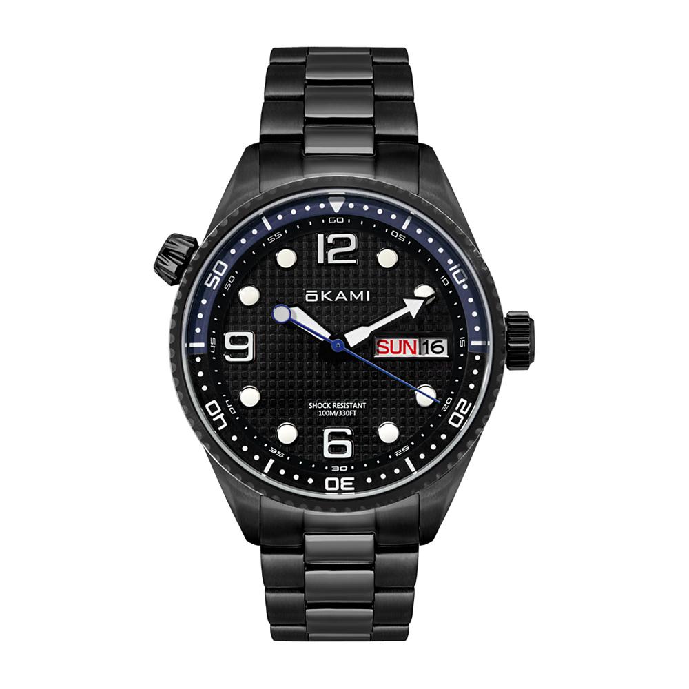 Фото «Мужские часы с календарем на стальном браслете»