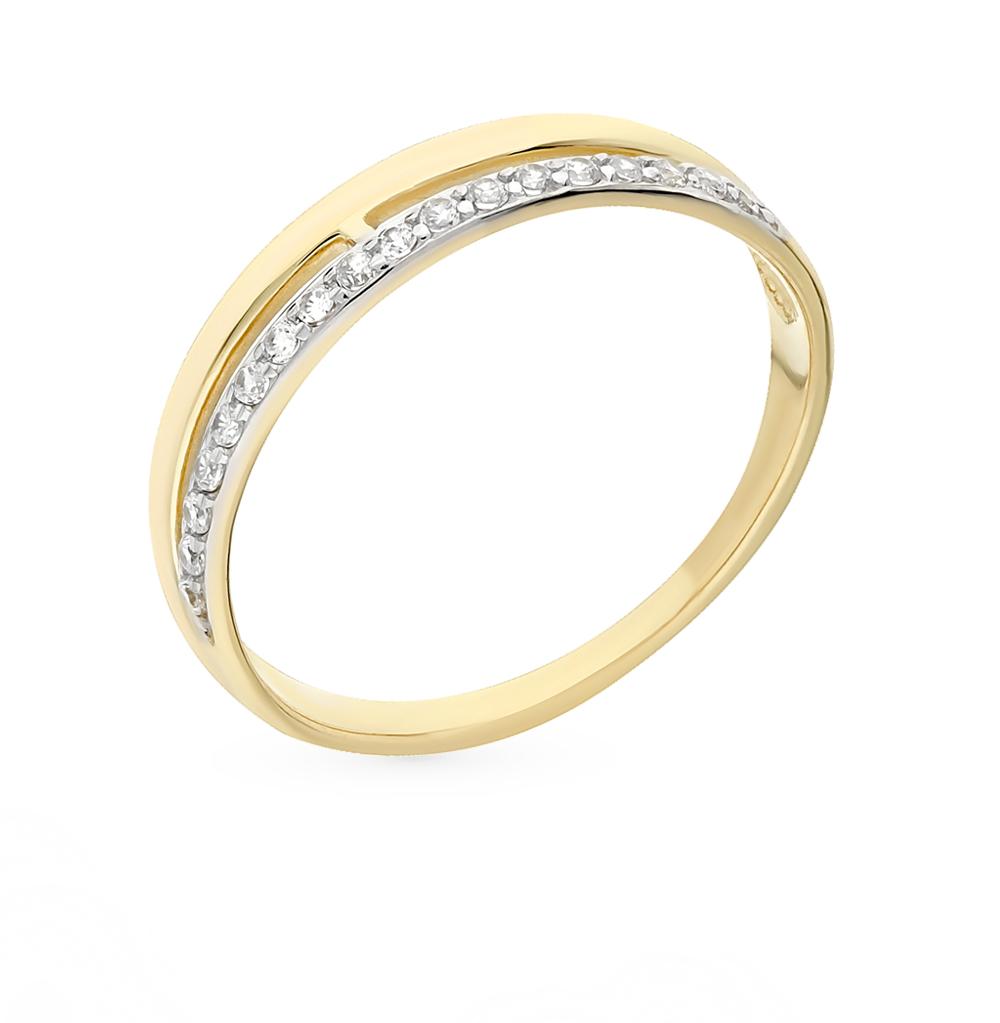 золотое кольцо с фианитами SOKOLOV 017151-2*