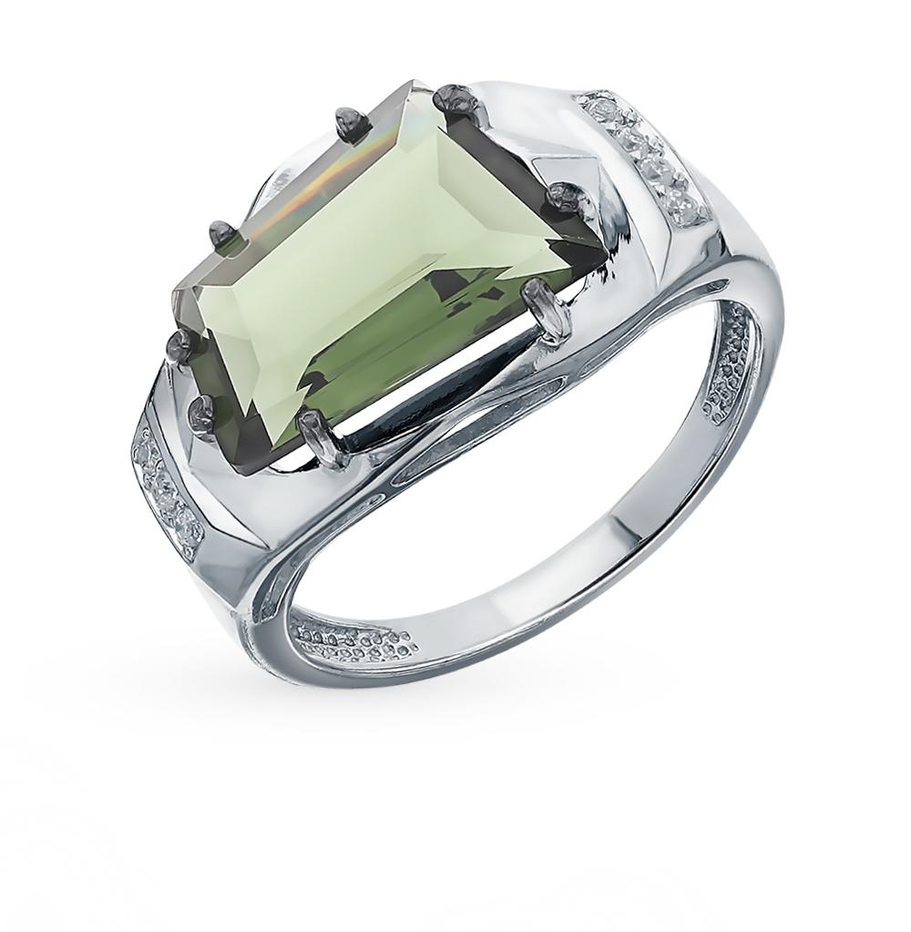Серебряное кольцо с кристаллами и фианитами в Санкт-Петербурге