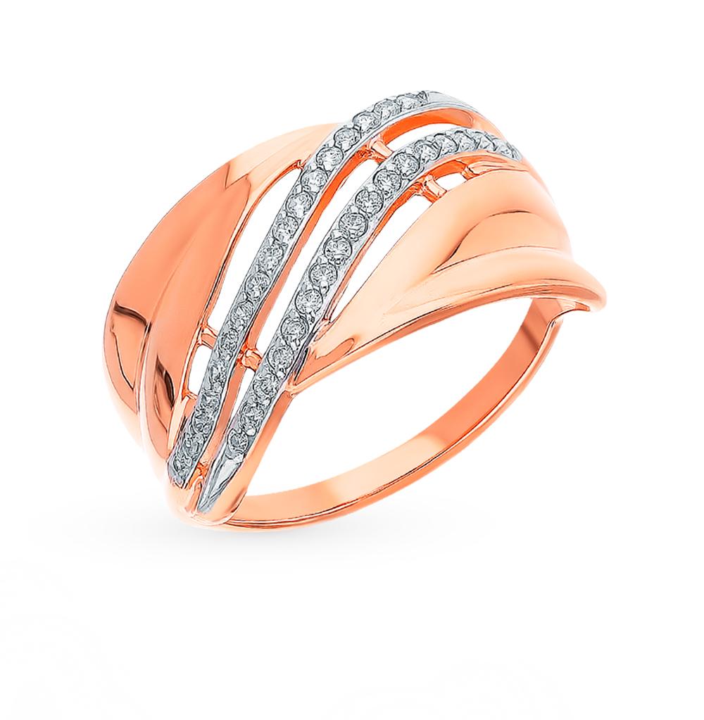 Фото «Золотое кольцо с фианитами SOKOLOV 018292*»