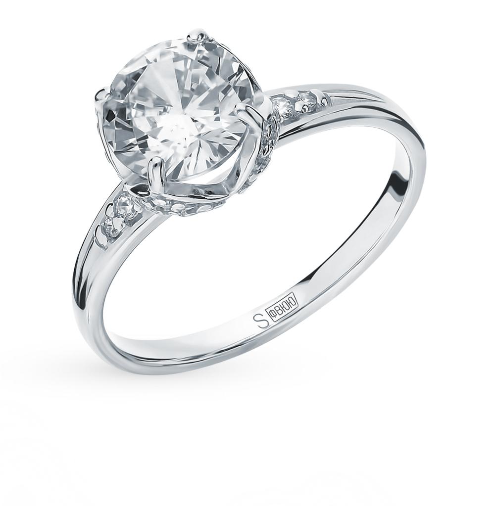 Фото «Серебряное кольцо с фианитами SOKOLOV 94012832»