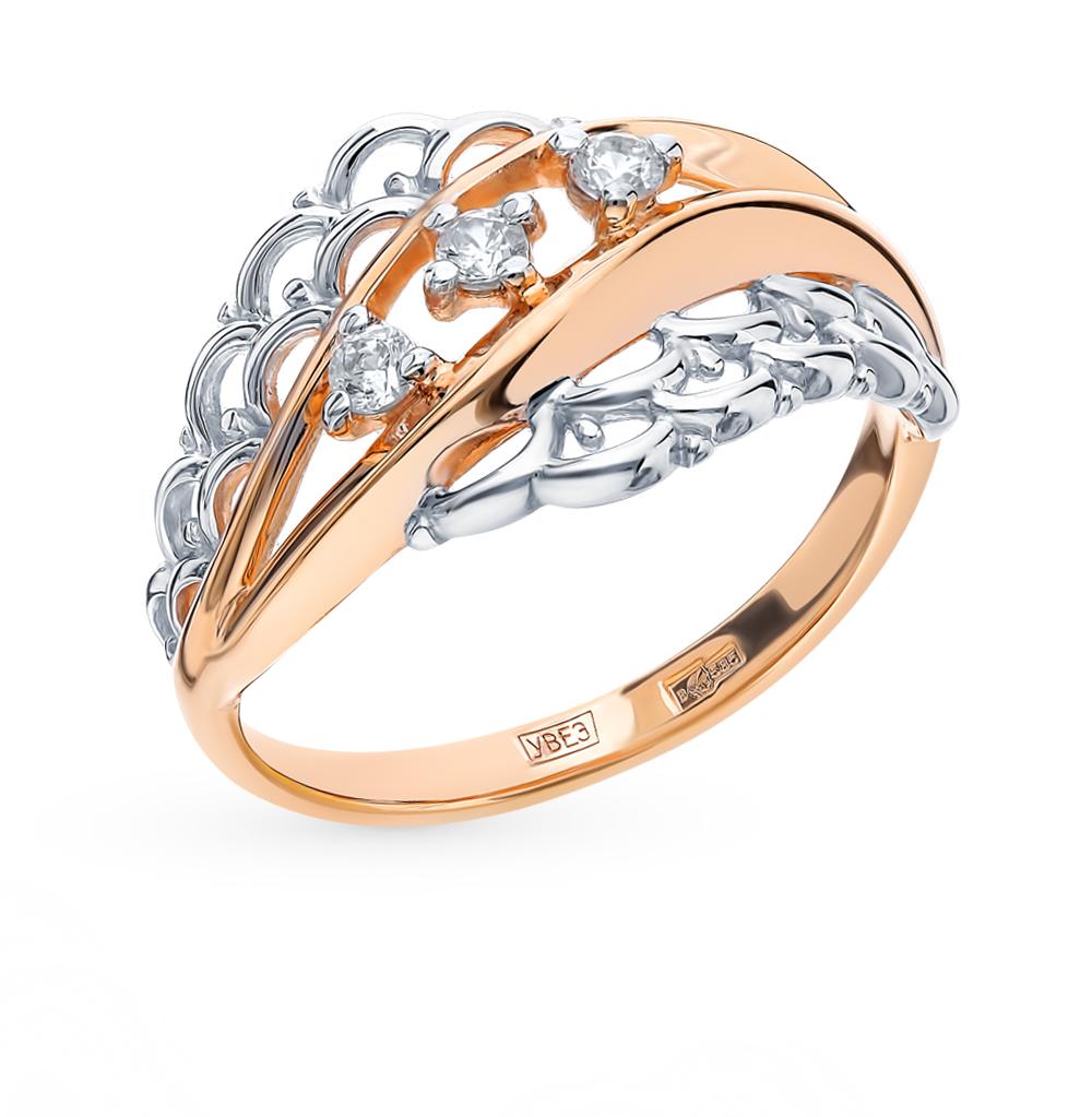 золотое кольцо с фианитами SOKOLOV 017575*