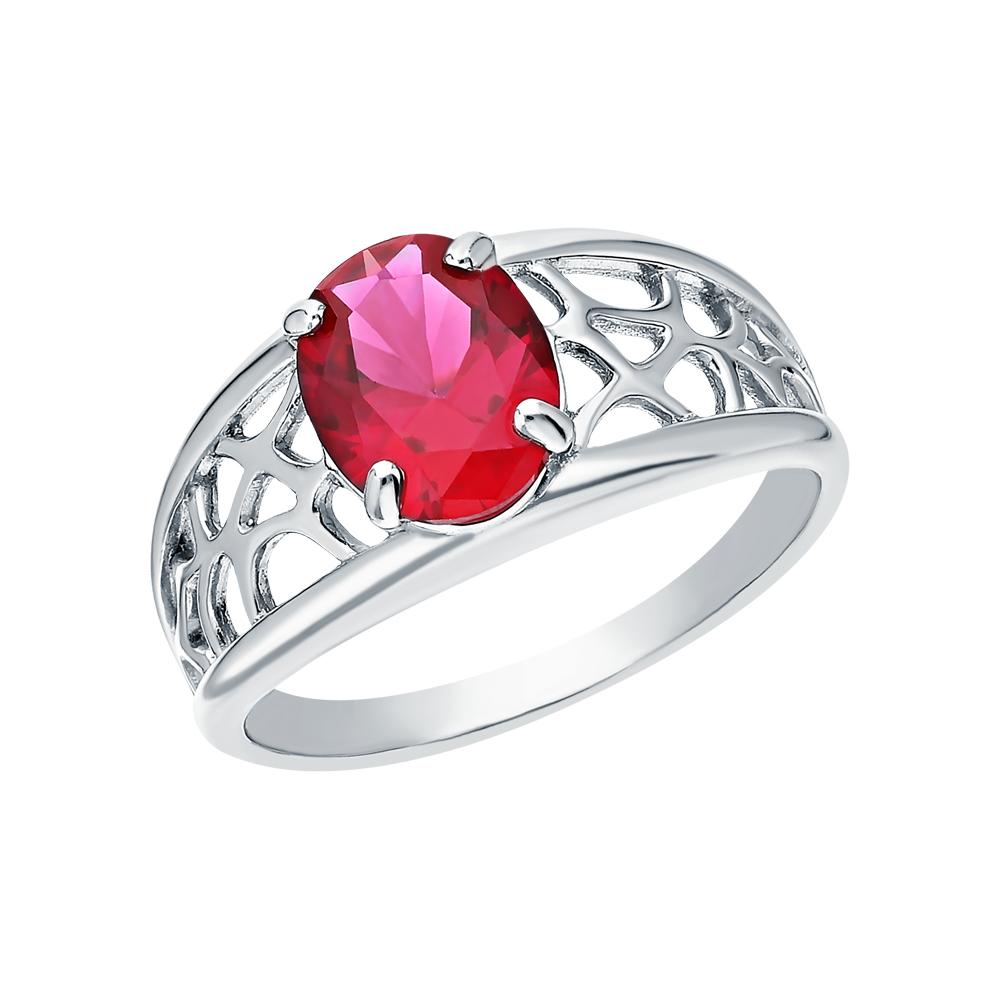 Фото «Серебряное кольцо с корундами синтетическими»