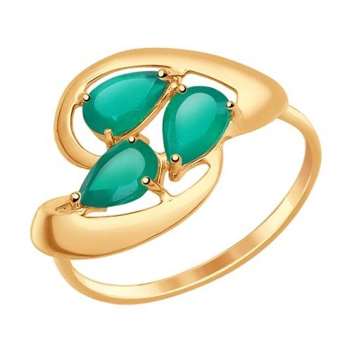 Фото «Золотое кольцо с агатом SOKOLOV 714629*»