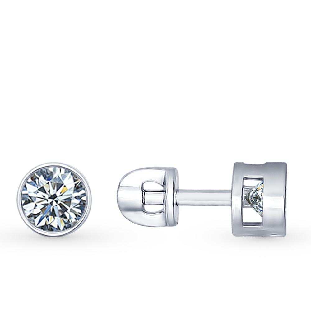 серебряные серьги с фианитами SOKOLOV 94021745