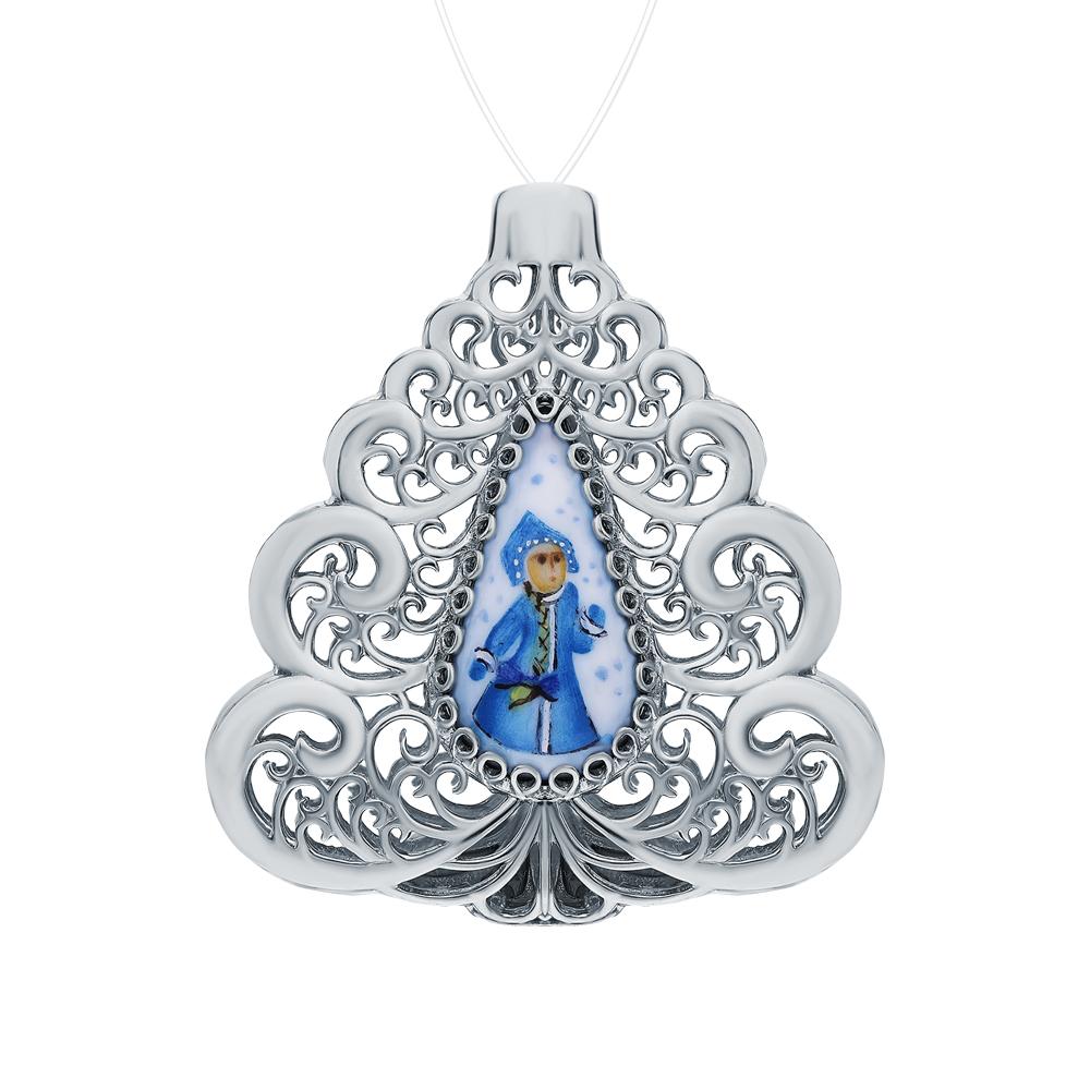 Серебряное елочное украшение с финифтью в Санкт-Петербурге