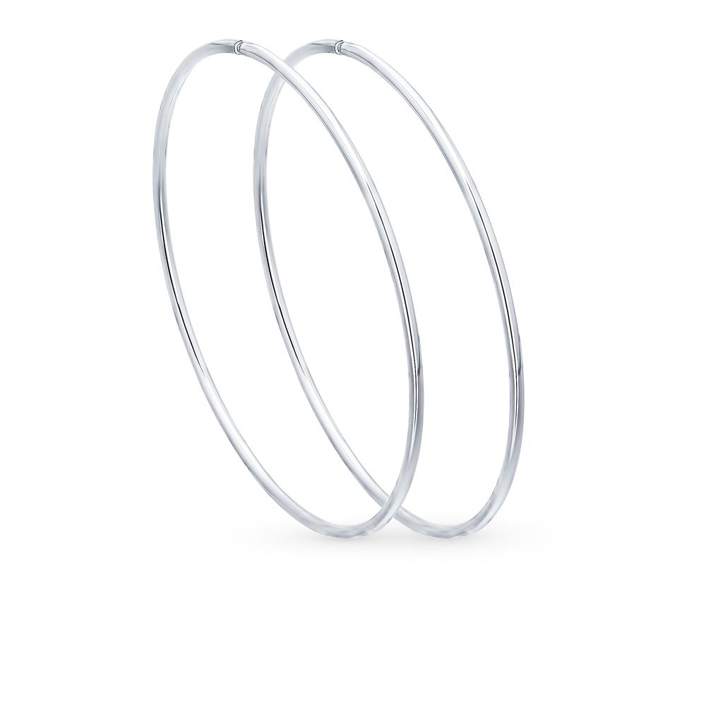 серебряные серьги SOKOLOV 94140044
