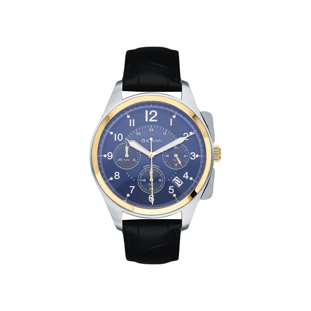 Мужские часы с хронографом на ремне из натуральной кожи в Екатеринбурге
