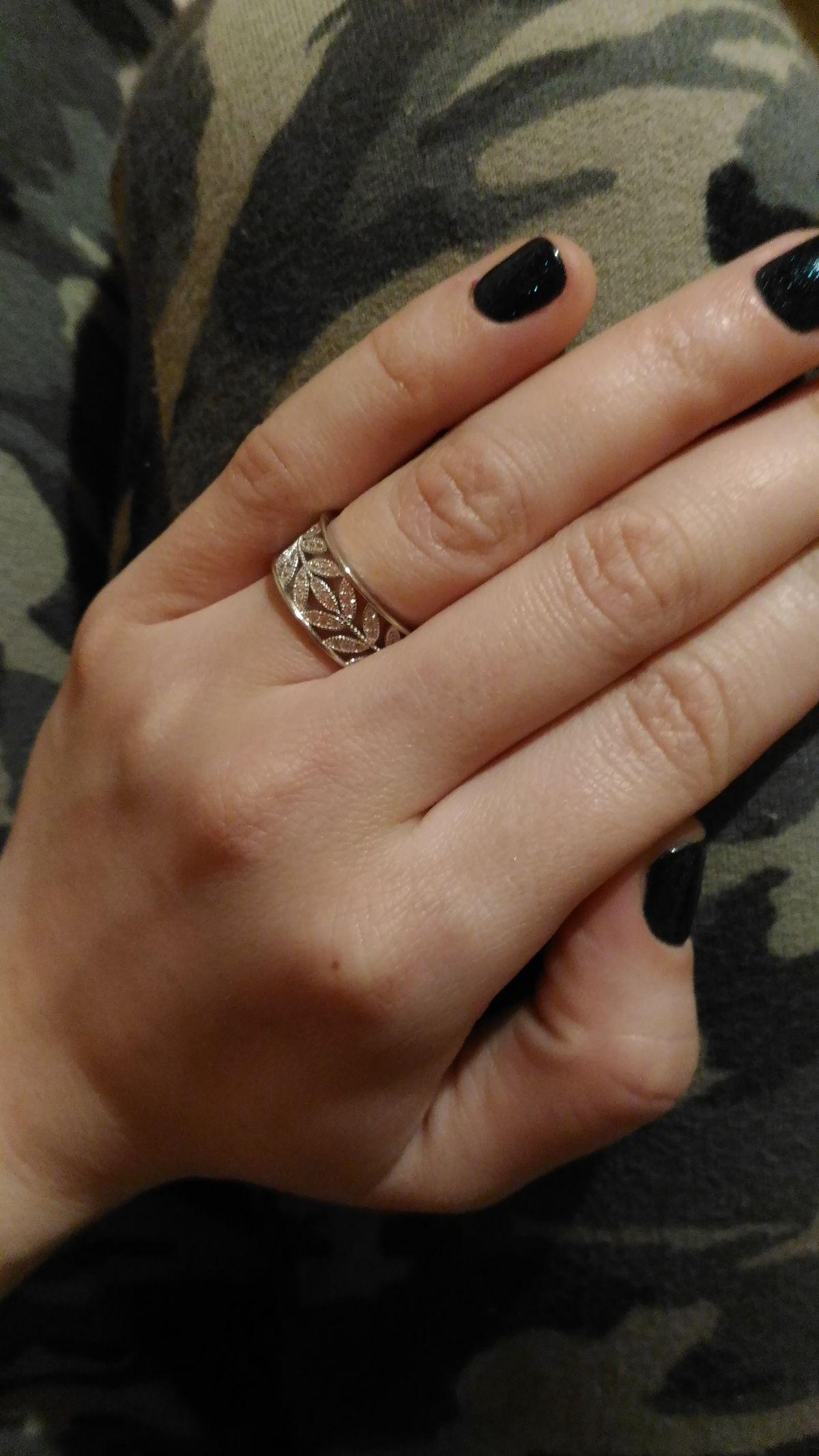 Оригинальное массивное кольцо