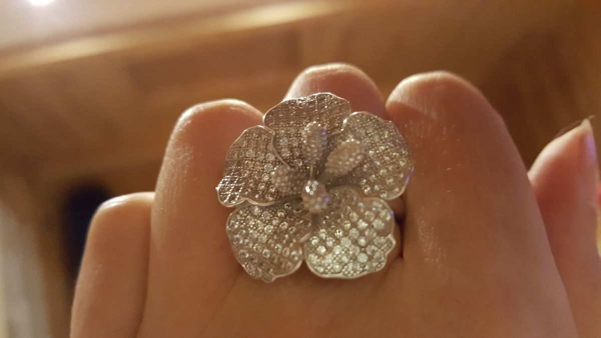 Кольцо цветок!