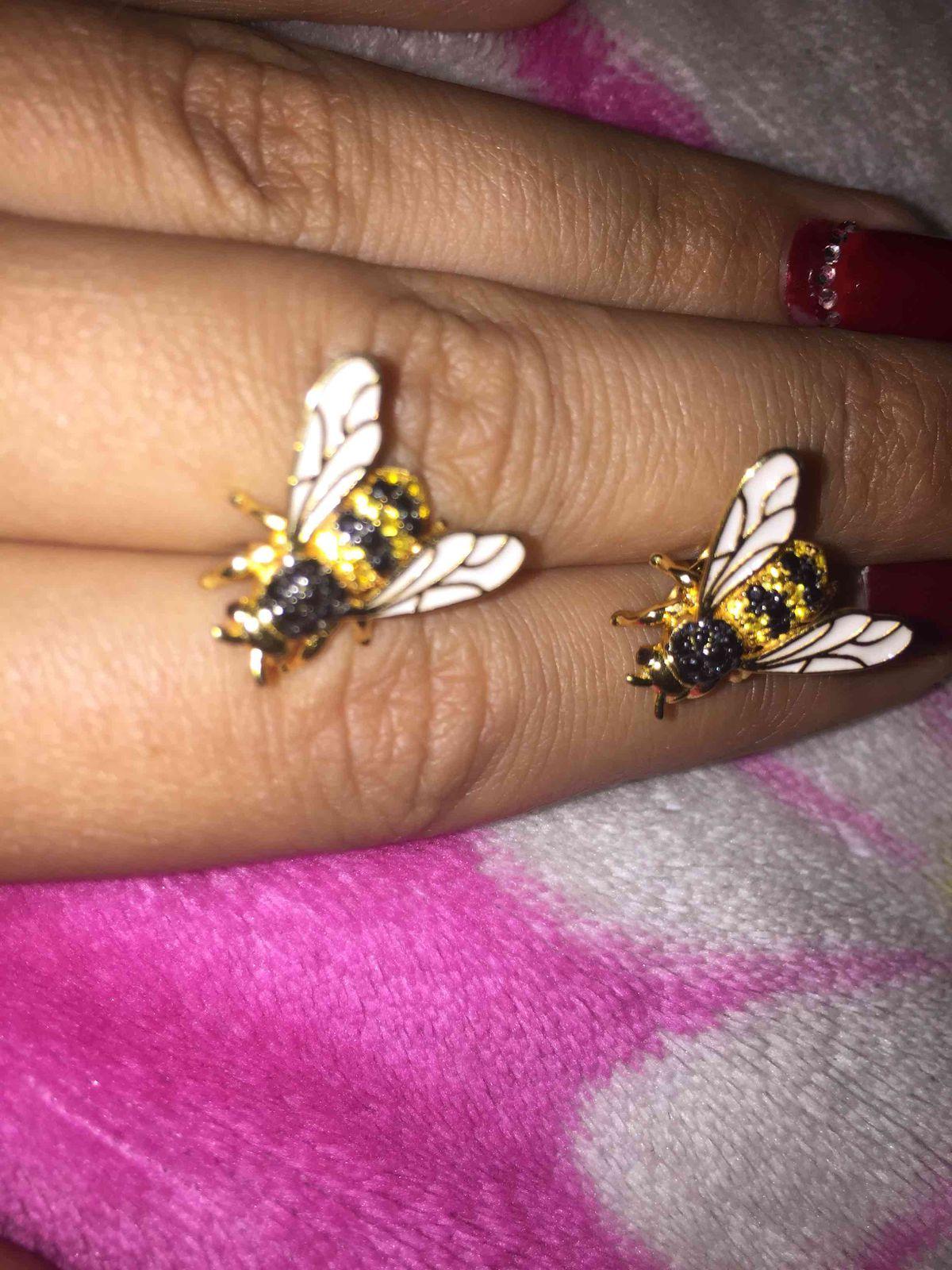 Серьги пчелки