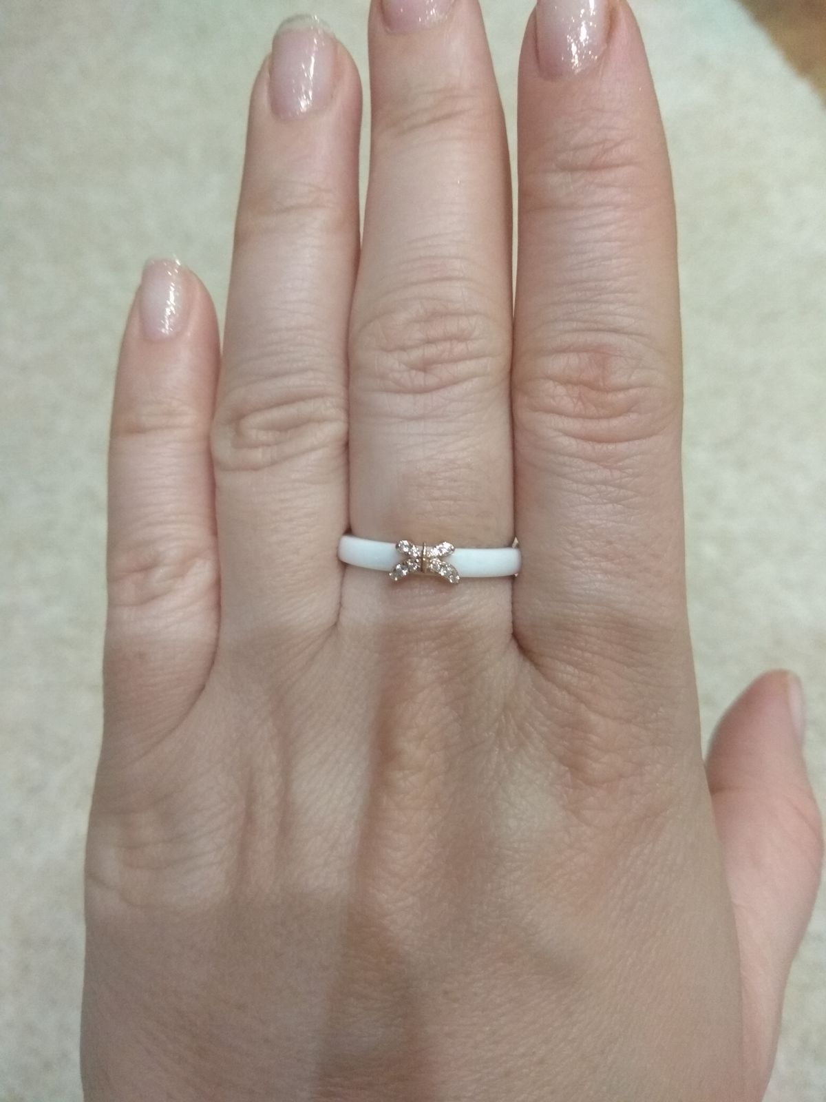 Кольцо керамика с серебром