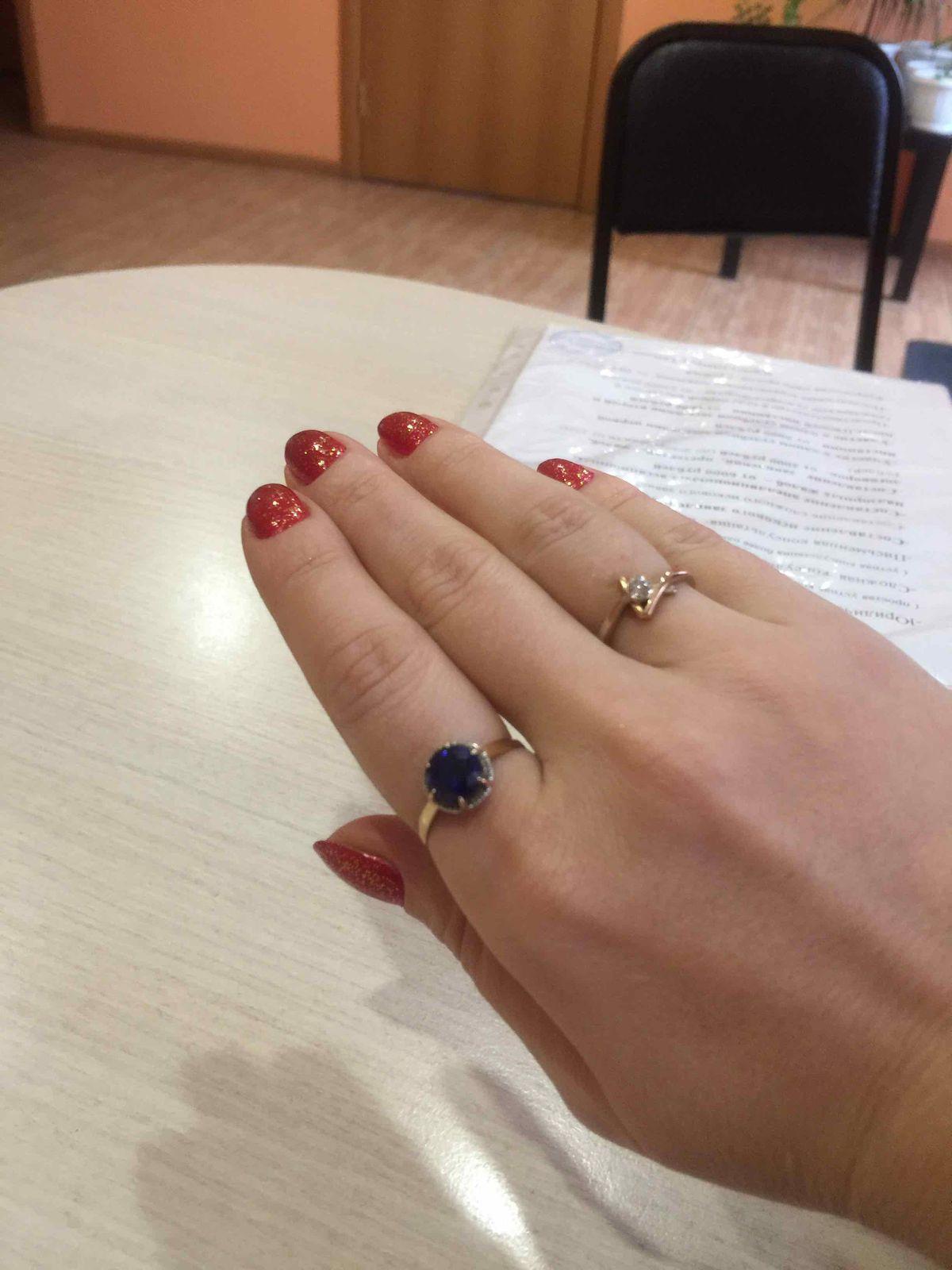 Элегантное кольцо с сапфиром