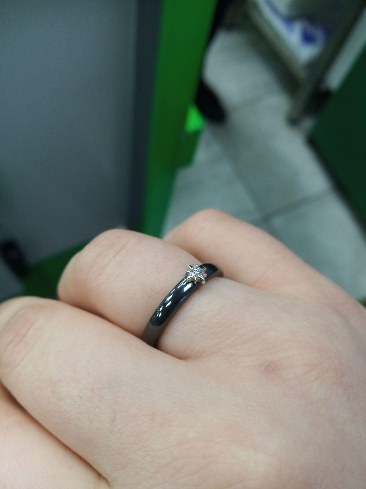 Недавно приобрела керамическое кольцо