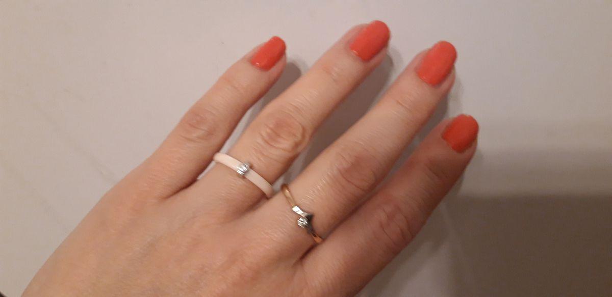 Элегантное керамическое кольцо