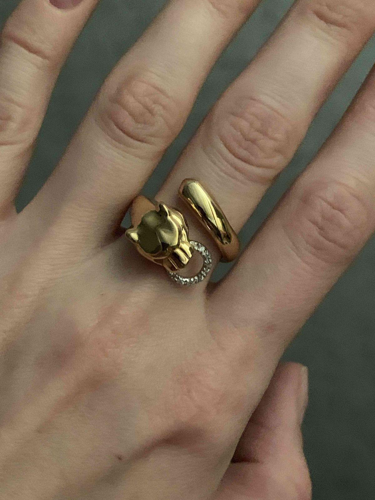 Кольцо с пантерой