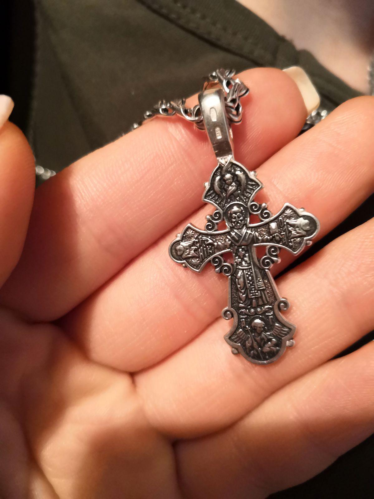 Крестик серебро.