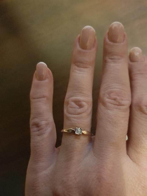 Золотое кольцо с бриллиантами!