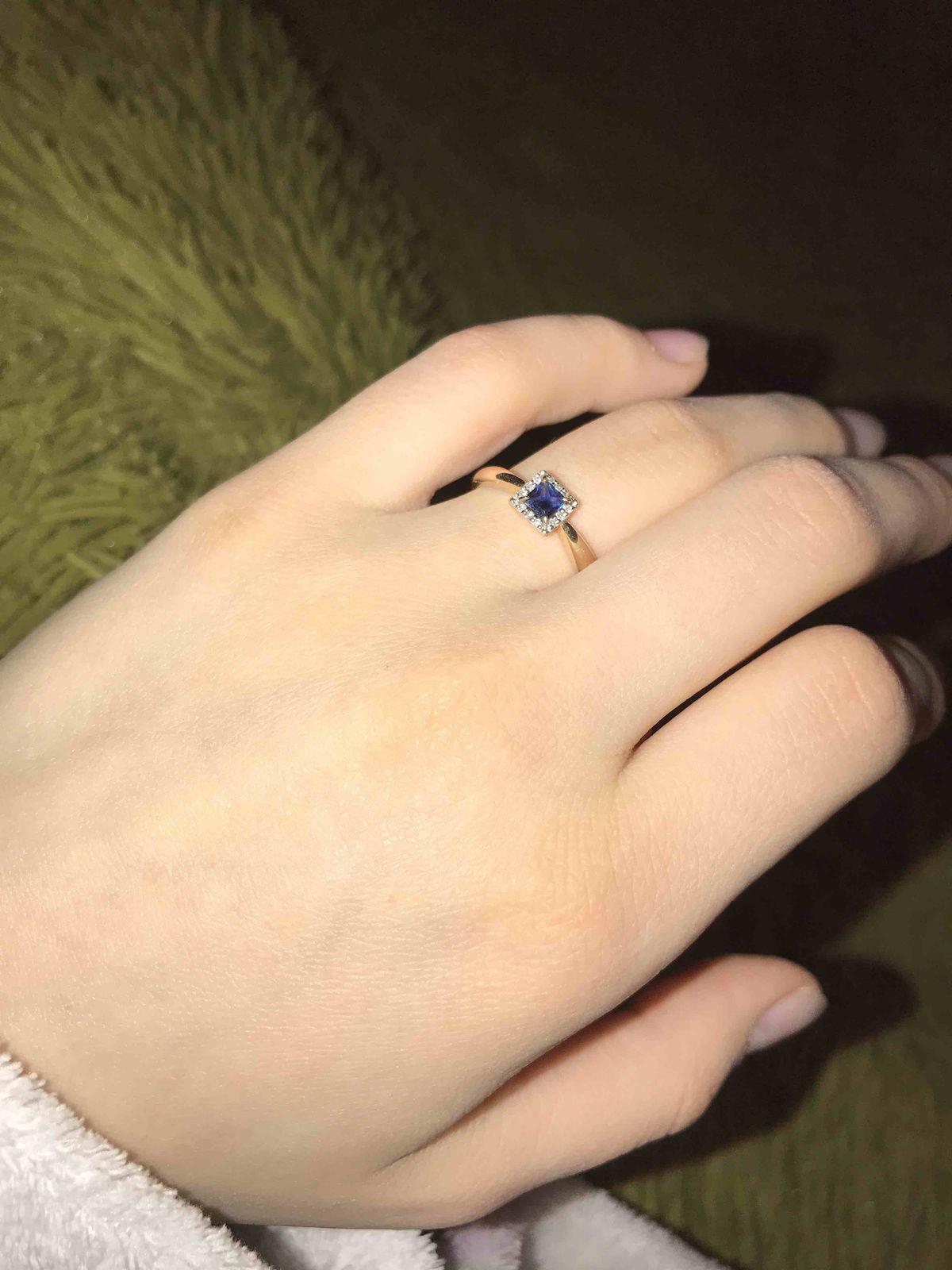 Мега крутое кольцо с сапфиром и брилиантами