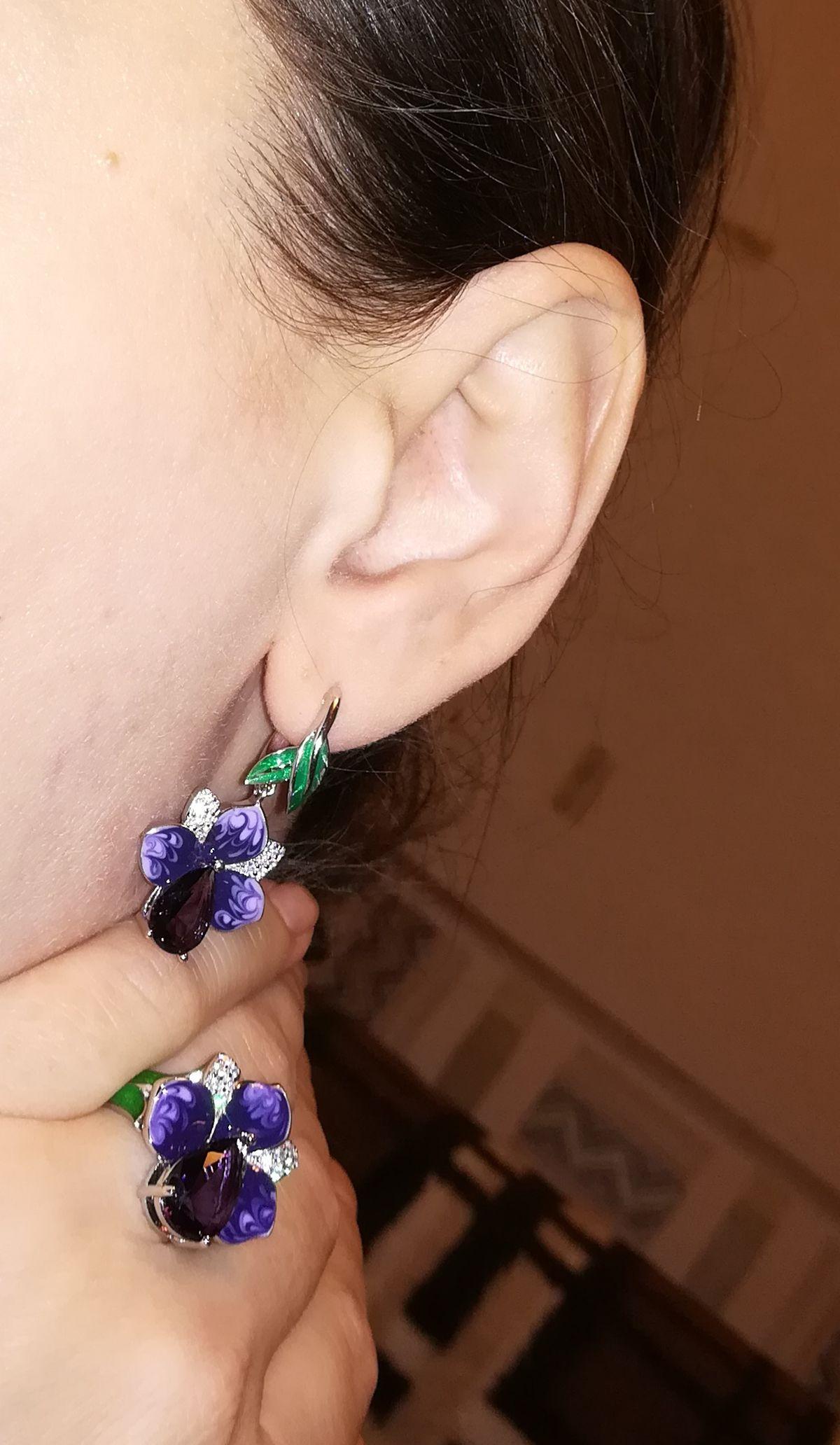 Серьги-орхидеи