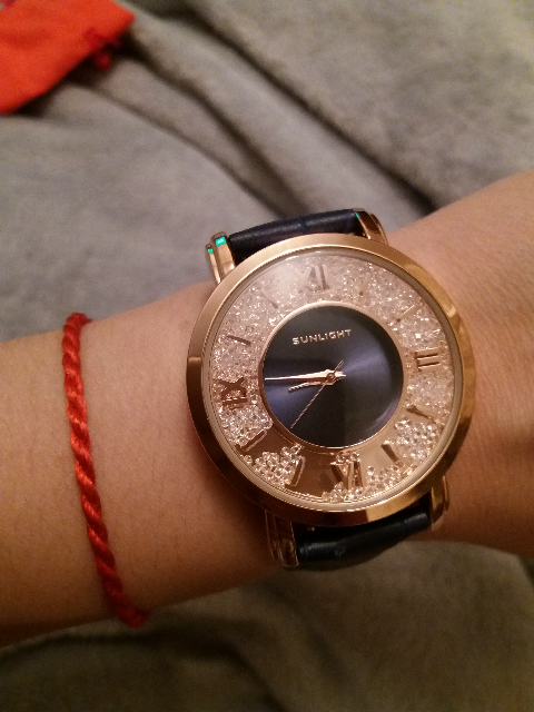 Часы синие с золотом
