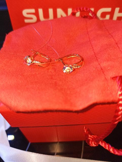 Золотые серьги с топазами и фианитами. 💎
