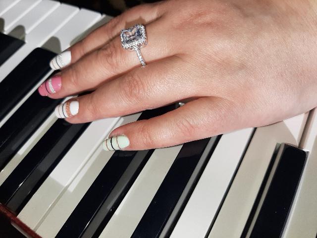 Колечко с фианитами