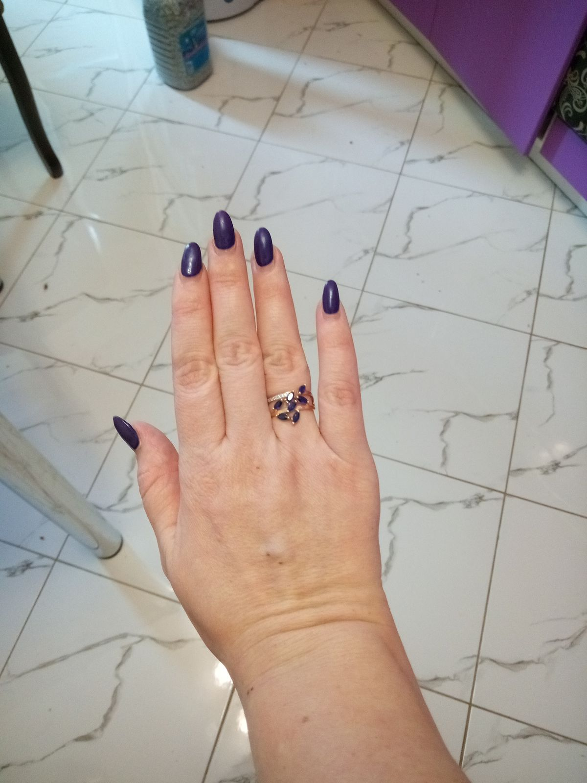Кольцо синее