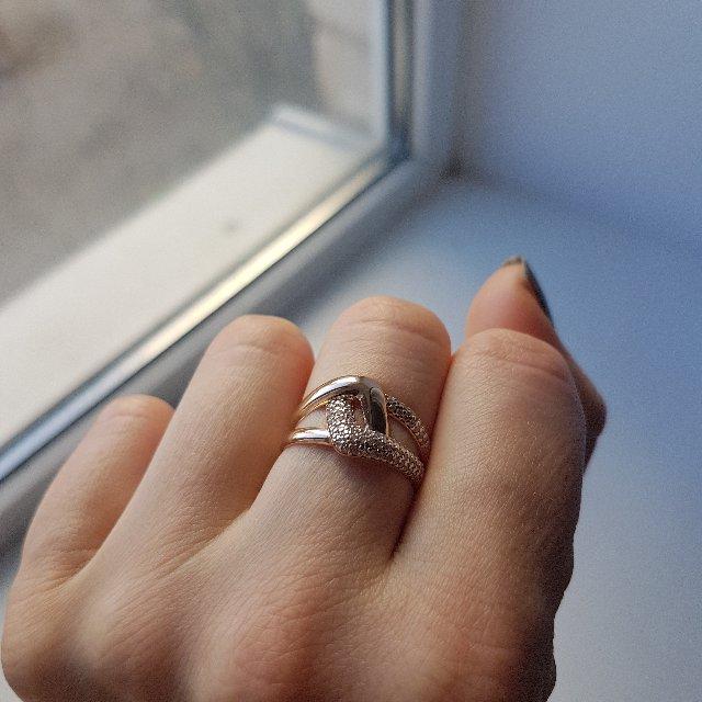 Кольцо из розового золота