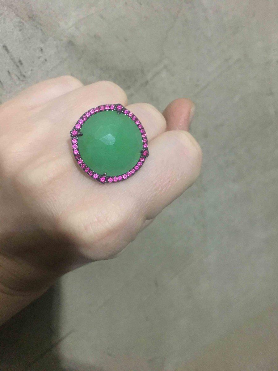 Колечко сзелёным камнем
