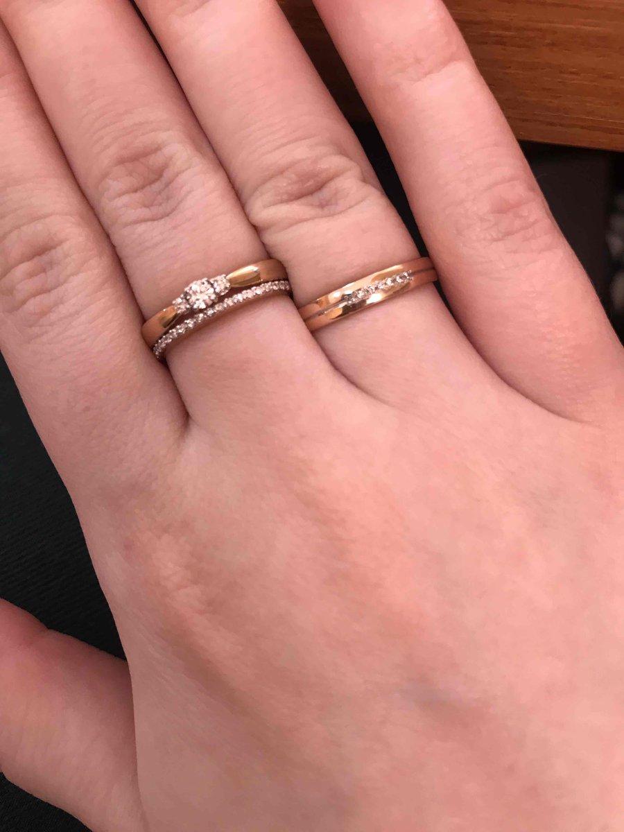 Двойное кольцо с бриллиантами.