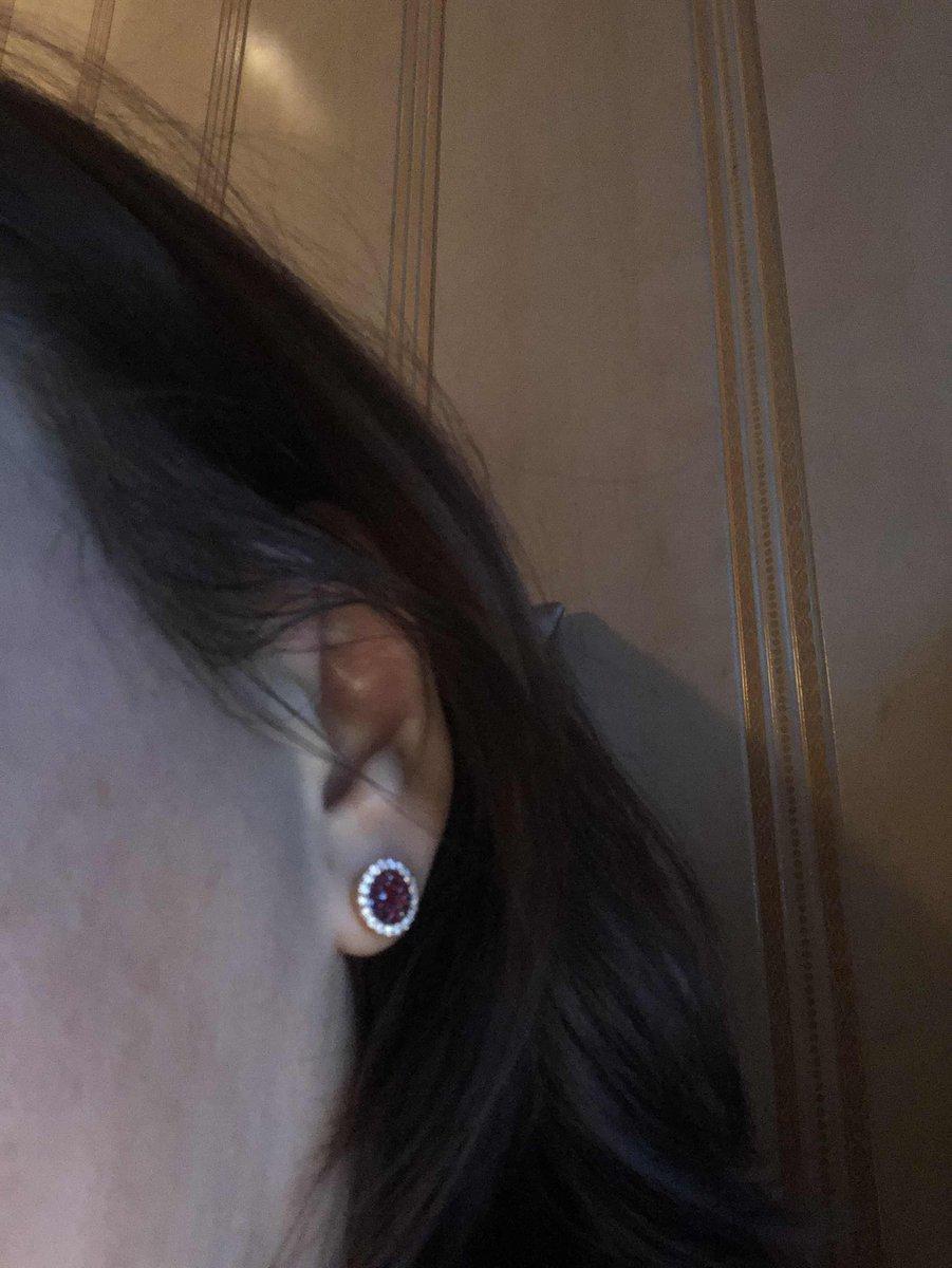 Гвоздики серьги рубины с бриллиантами